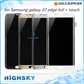 New 5 PCS Replacement Parts LCD Display With Touch Screen Digitizer For Samsung Galaxy S7 Edge G9350 SM-G935 Free DHL/EMS