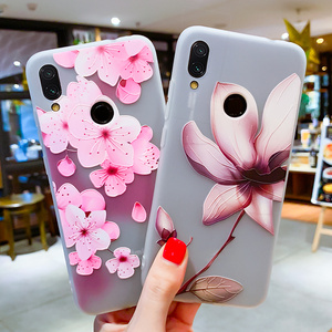 Image 3 - Soft TPU Phone Cases For Xiaomi 9 Case For Xiaomi Mi5S Mi5X Mi6 Mi6X Mi8 8SE 8Lite Relief Floral Phone Covers For Pocophone F1