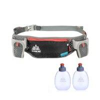 AONIJIE гидратационная поясная сумка с двумя бутылками для воды 170 мл сумка для пояса держатель для телефона водонепроницаемый для бега