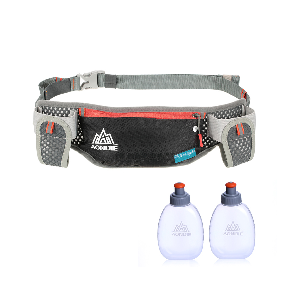 AONIJIE Running Hydration Waist Pack With Two Water Bottle 170ml Bag  Belt Bottle Phone Holder Waterproof Jogging