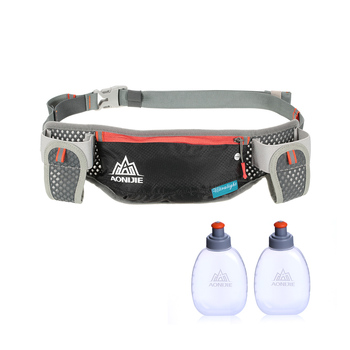 AONIJIE Running Hydration Waist Pack With Two Water Bottle 170ml Bag Belt Bottle Phone Holder Waterproof Jogging