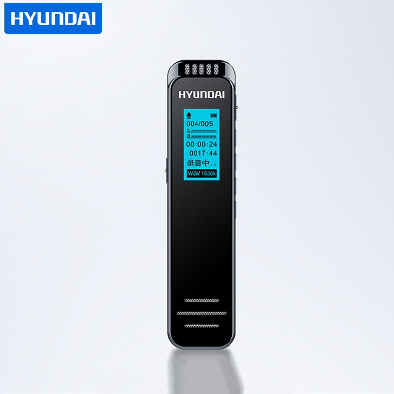 A5 Professional Dictaphone voice activated Recorder with AGC 1536Kbps PMC long time denoise Hifi mini DSD MP3 player speaker