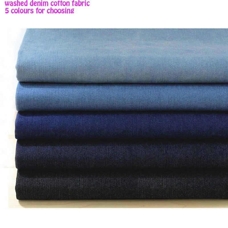 Bun 135 * 50cm 1pc Denim 100% bumbac Fabric spălat gros Denim Fabric - Arte, meșteșuguri și cusut