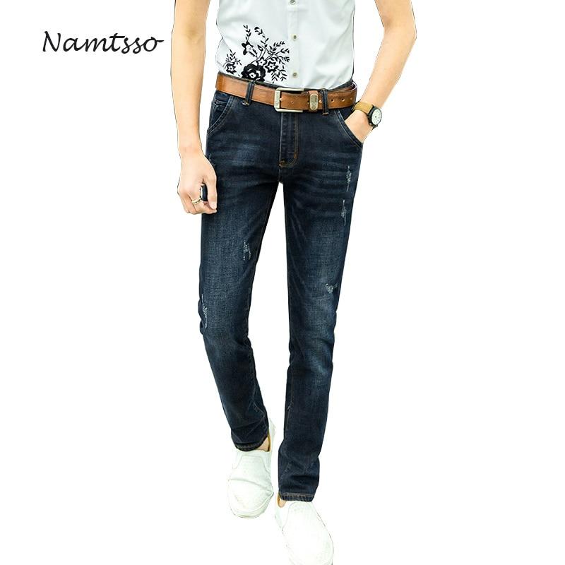 2017 Aumtumn Men's Jeans High Stretch Slim fit Denim Brand Men Jeans Size 30 32 34 35 36 38 40 42 Pants Trousers 656 brand mens jeans high quality men s camouflage straight stretch pants denim trousers size 38 40 jeans for men a989