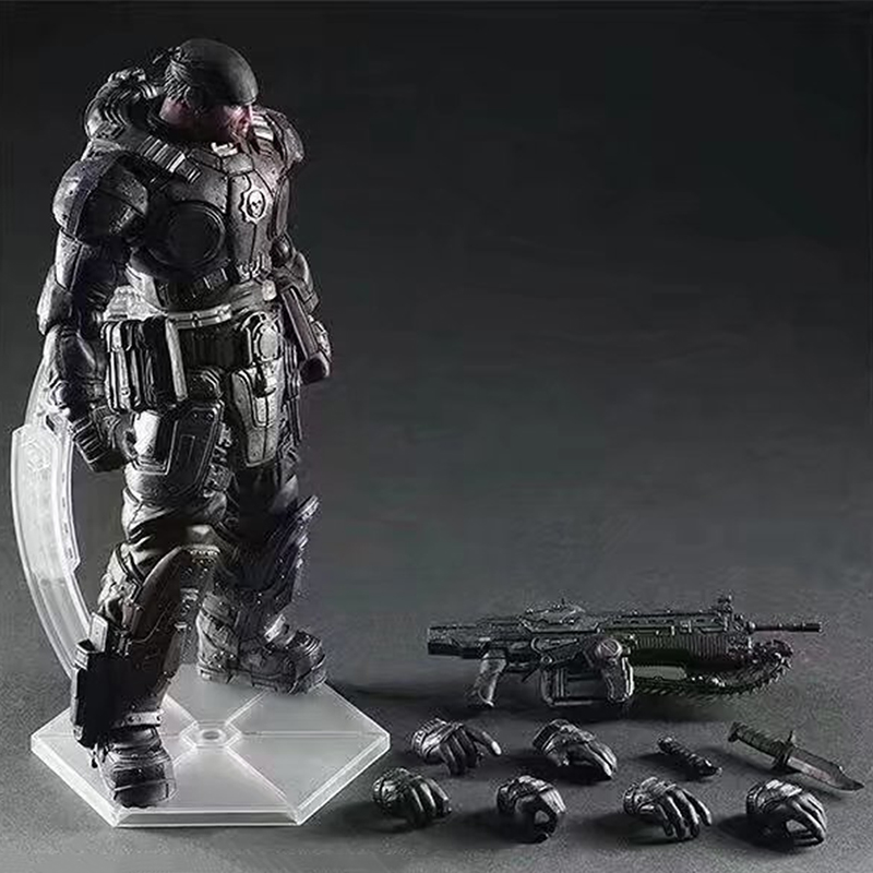 C&F Games Gears of War Marcus Fenix Anime Action Figure Toys Delta Squad Collectiable Model PVC Toys For Fans майка классическая printio gears of war 2