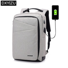 DINGXINYIZU college school backpack men casual business travel male smart usb charge laptop 15.6 earphone jack