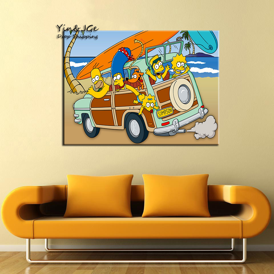 Modular Wall Art Frame 1 Pieces Simpsons Anime Posters Pictures For ...
