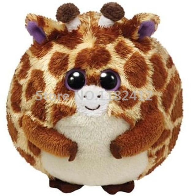 Ty Beanie Ballz Plush Animals Tippy Giraffe Big Eyes Stuffed Animals