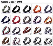 купить Wholesale 18mm Nato Cambo Brown Beige Stripe Casual Nylon Fabric Woven Watch watchband Strap Band Buckle belt 18 mm High Quality по цене 99 рублей