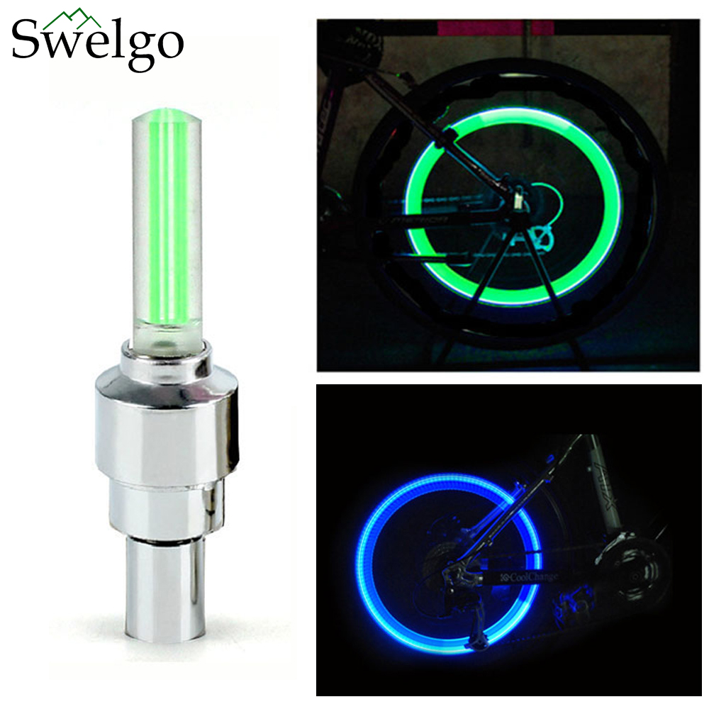 Cycling 2017 Bike Tyre Tire Wheel Valve Cap Light Led Spoke Lamp Bicycle Accessories Hot Sales Free Shipping Sports & Entertainment