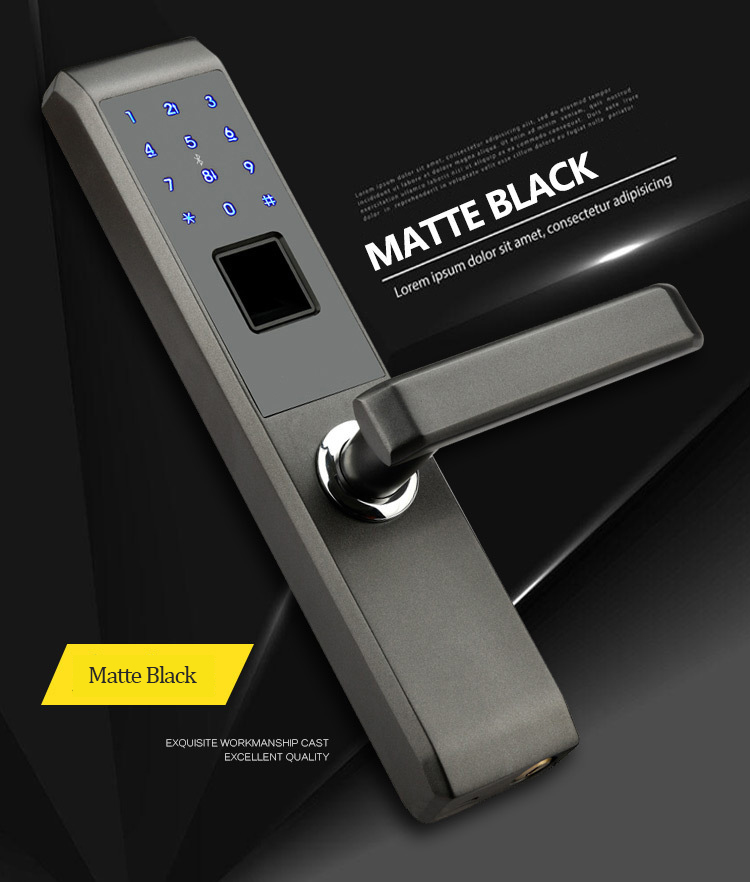 Lachco 2019 biométrico eletrônico fechadura da porta inteligente impressão digital
