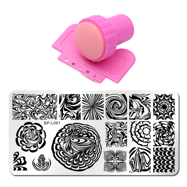 12x6cm Nail Printing Stamp 19 Style Nail Stamping Plates Set Lace ...