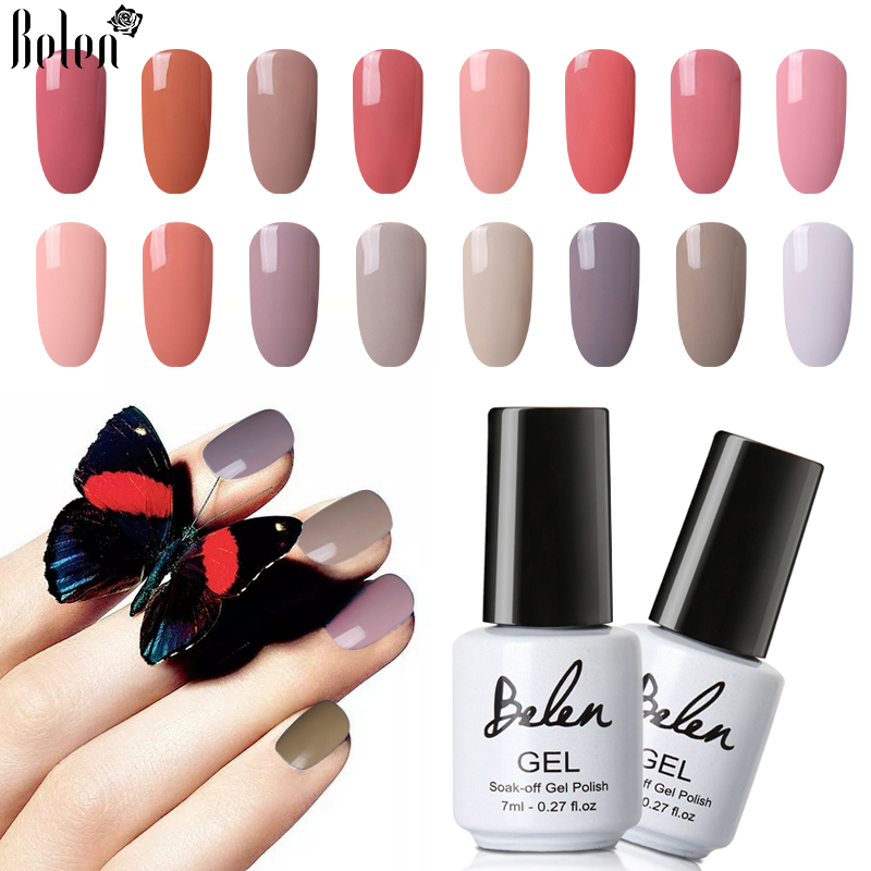 Us 1 14 50 Off Belen 7ml White Bottle Nude And Wine Red Series Color Nail Polish Sale Semi Permanent Lacquer Enamel Diy Nail Varnish Manicure In
