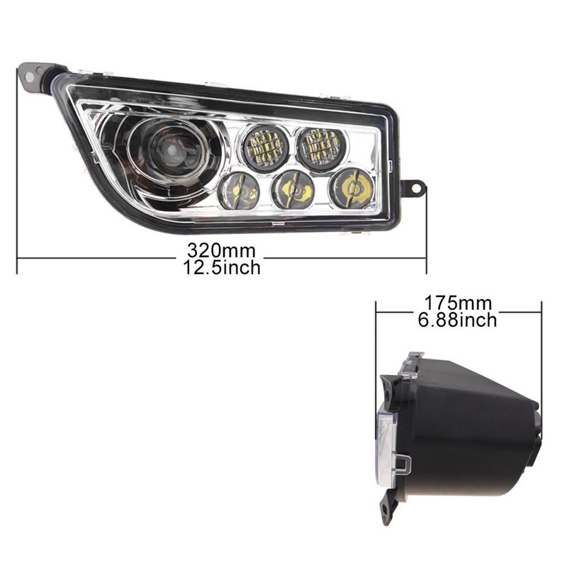 2014 2017 POLARIS RZR 1000 XP & TURBO REPLACEMENT LED HEADLIGHTS KIT