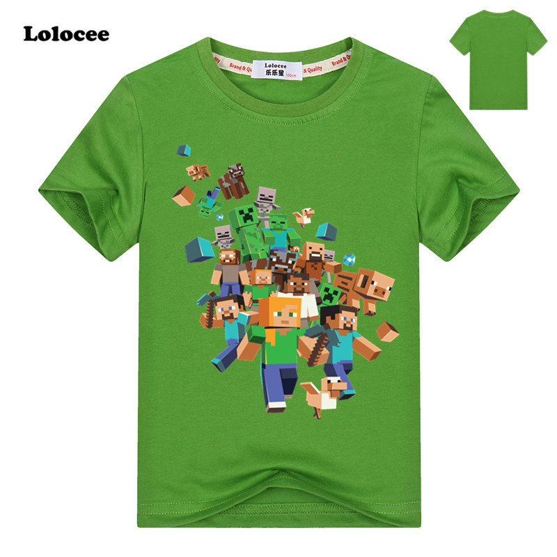 2018 New Summer Popular Video Game T Shirt Kids Pure Cotton Short Sleeve Tops Our World Cartoon Tees for Girls Boys Fashion недорго, оригинальная цена