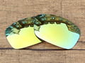 24K Golden Mirror Polarized Replacement Lenses For Hijinx Sunglasses Frame 100% UVA & UVB Protection
