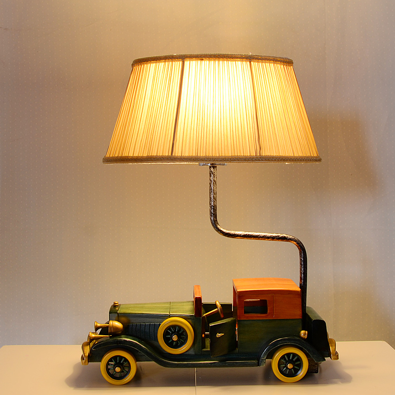 Old car table lamp creative children's room bedroom bedside lamp led retro lamps personality boy desk lamps ZSH50414