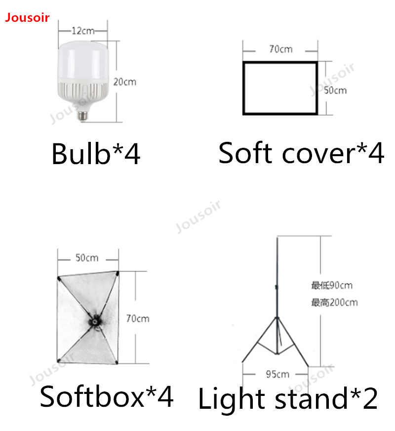 105 Watts led softbox four lamp set simple small studio product shooting photo replenishment  CD50 T03