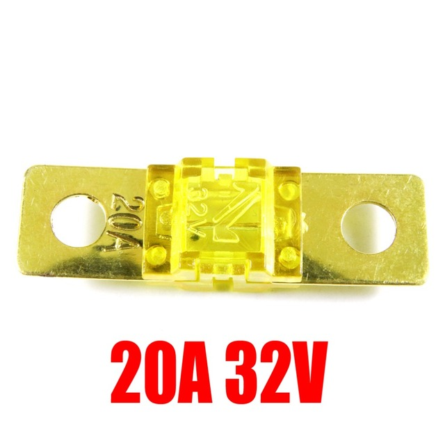 Gold Plated 20A/32V Mini Auto Fuse Mini ANL AFS Car Fuse Assortment Automotive Motorcycle
