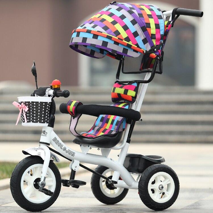 Детский трехколесный велосипед тележка 1-3-5 лет велосипед ребенка велосипед для автомобиля