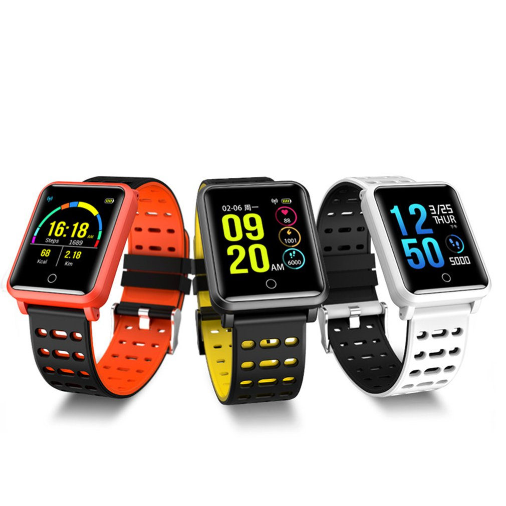 N88 Color Screen Smart Watch Blood Pressure Heart Rate Anti-lost Wristband For Women Men Sport Smartband Clock Dropshipping