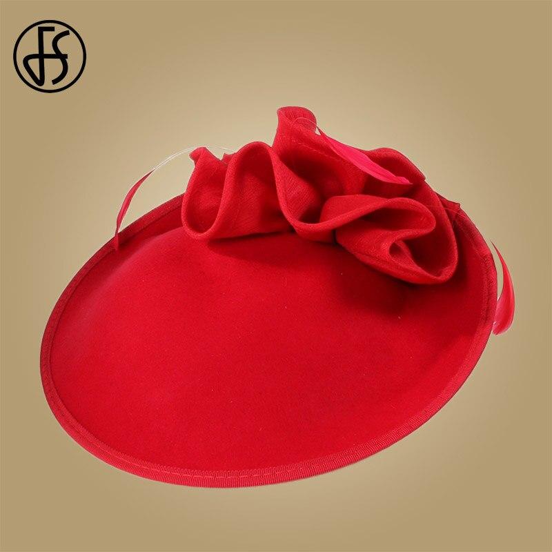 Image 5 - FS British Hats For Women 100% Wool Pillbox Hat Khaki Felt Fedora Vintage Flower Wedding Fascinator Ladies Derby Church Hat-in Women's Fedoras from Apparel Accessories