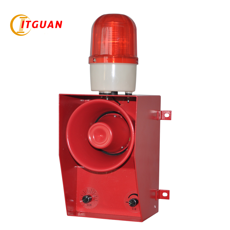 TGSG-06B DC/AC12V-380V LED Warning Lamp 130dB Strobe Light With Siren  Emergency  Audible Visual Alarm Industrial Siren