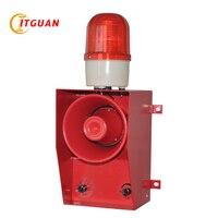 TGSG 06B DC AC12V 380V LED Warning Lamp 130dB Strobe Light With Siren Emergency Audible Visual