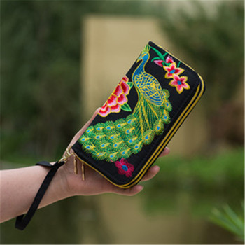 Flower Embroidered Wallet  1