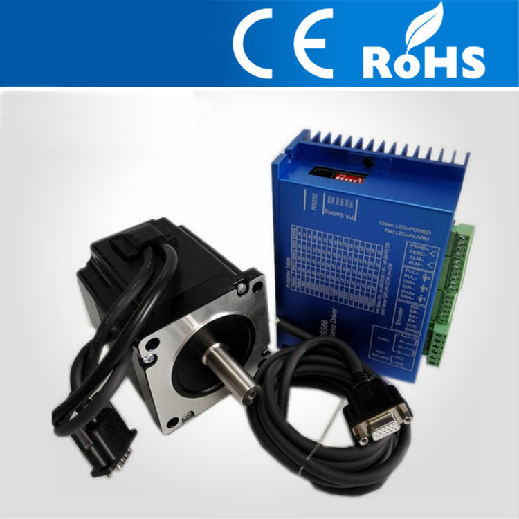 3.4N.M  86mm NEMA34 Closed Loop Stepper Motor With Driver And 3M Cables for CNC Mill JK86HS67  Free shipping nema23 1 89n m 2 8a 57mm closed loop stepper motor with driver and 3m cables motor length 76mm 57hs76 2804 free shipping