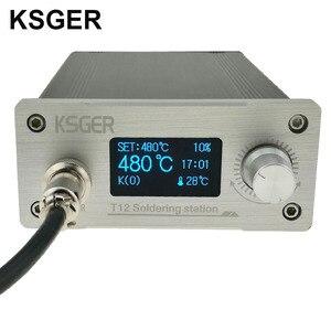 Image 1 - KSGER לבן עבה פנל STM32 OLED T12 הלחמה תחנת טמפרטורה דיגיטלית בקר עבור Hakko T12 חשמלי הלחמה ברזל
