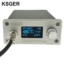 KSGER White Thick Panel STM32 OLED T12 Soldering Station Temperature Digital  Controller For Hakko T12 Electric Soldering Iron