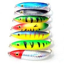 WLDSLURE 7Pcs/lot Spoon Lure Minnow 70mm/9.6g  Crankbait Snapper Hard Bait Wobblers RealSkin Painting Fishing