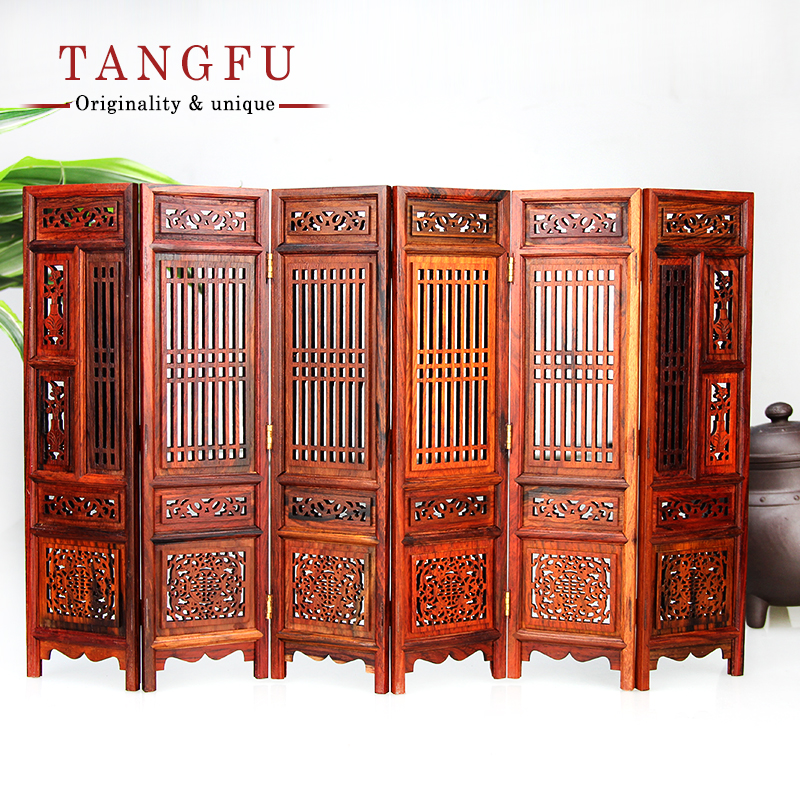home decor rosewood small folding decorative screen promotion movable table screen chinese wood ancient new retro - Home Decor Screens