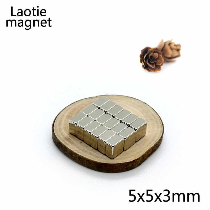 100 ピース 5 × 5 × 3 ミリメートルミニ N35 グレード超強力強力なマグネットブロックネオジム 5 × 5 × 3 立方体希土類ネオジム永久磁石