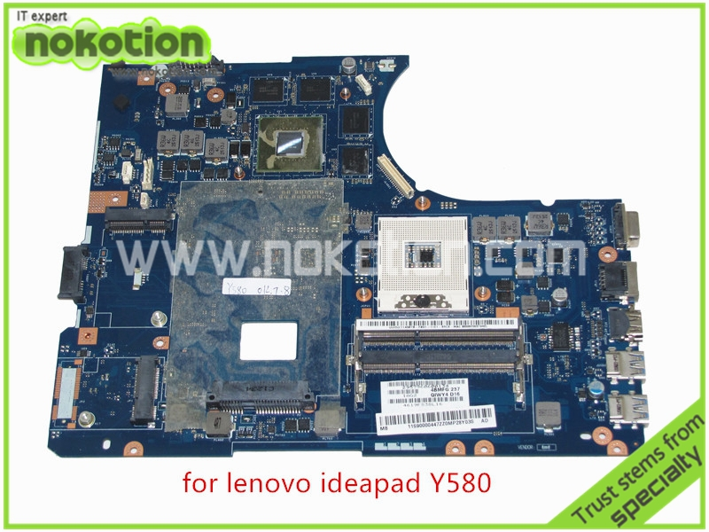 NOKOTION 11S90000447 QIWY4 LA-8002P REV 1A For lenovo Ideapad Y580 motherboard DDR3 Intel HD4000 GeForce GTX660M 2GB graphics nokotion sps v000198120 for toshiba satellite a500 a505 motherboard intel gm45 ddr2 6050a2323101 mb a01