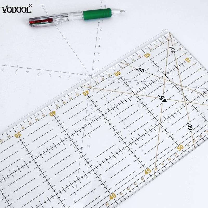 DIY Handmade Patchwork Feet Tailor Quilting Tools Acrylic Material 60*15 cm Patchwork Measuring Ruler Seam Sewing Scale Rulers diy tools wavy maker ruler patchwork quilting foot professional cutting ruler seam aligned patchwork ruler free shipping