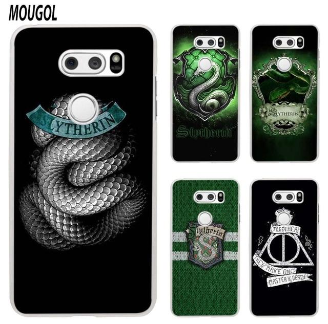 adc348fb18dd8 MOUGOL Harry Potter Slytherin School Crest design transparent hard case  cover for LG Q6 G3 G4 G5 G6 K4 K5 K8 K10 V10 V20 V30