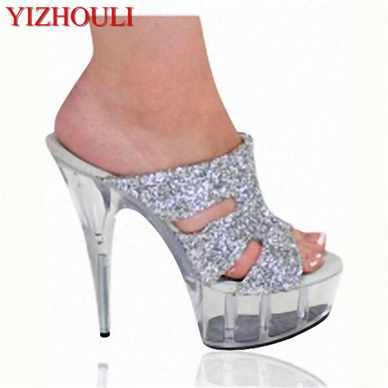 Persevering The New Low-profile Luxury And 15cm Crystal Heels/sandals/nightclub Dance Shoes Sale Price Office & School Supplies