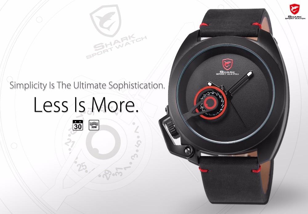 HTB1TYvsNXXXXXavXFXXq6xXFXXXv Tawny SHARK Sport Watch Red Date Luxury Watch