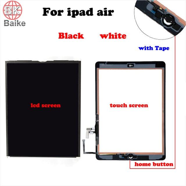 Para ipad air ipad 5 digitador do painel de vidro da tela de toque com home button assembléia para ipad air 1 tela lcd exibição