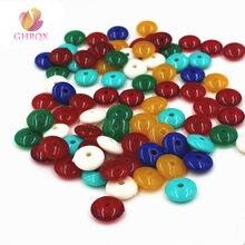 Разноцветные Акриловые Плоские бусины, разделительные бусины 10 мм/8 мм, фурнитура для ювелирных изделий, оптовая продажа, сделай сам