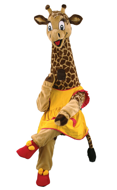 giraffe costume mascot costume for adults christmas halloween outfit fancy dress suit free shipping real picture