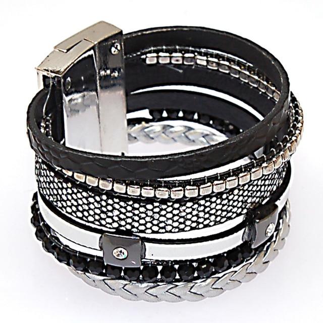 Magnetic Bracelets Brazilian Style Wide Wrap Winter Charm Bracelet Clasp