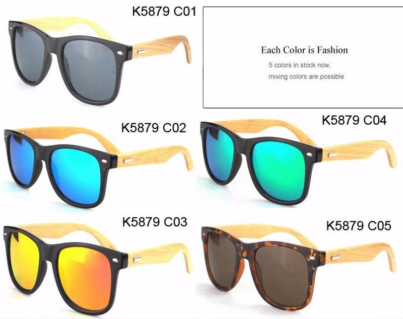 2016 New Bamboo Polarized Sunglasses Men Wooden Sun glasses Women Brand Designer Original Wood Glasses Oculos de sol masculino 7