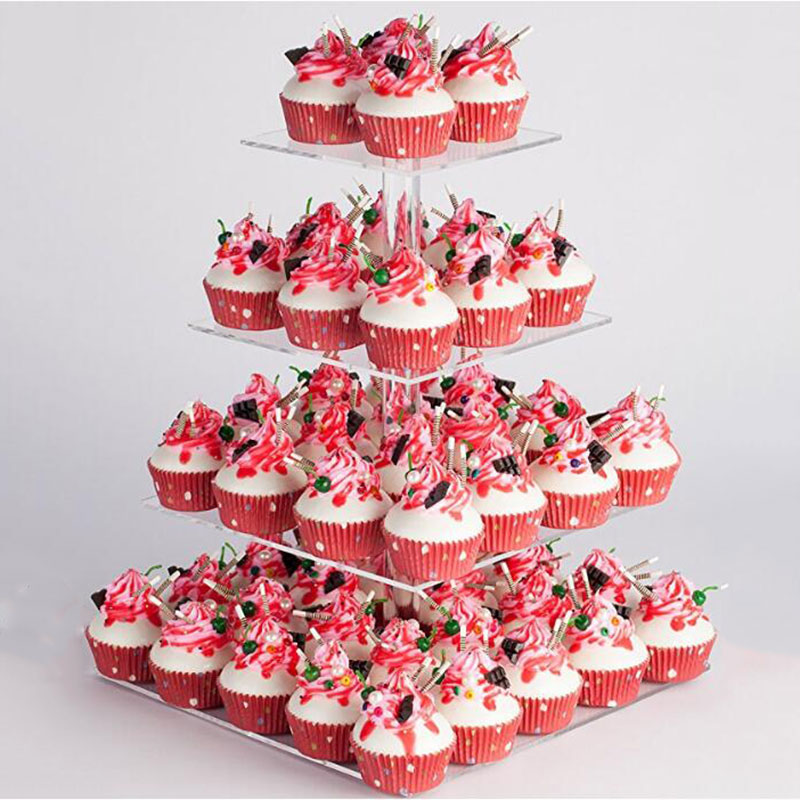 Cake Stand 4 Tier Cupcake Holder Stand Acrylic Birthday Wedding Party Decoration Tools Removable Baking Display