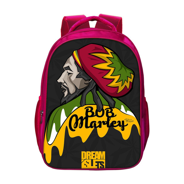 Classic Bob Marley Backpacks For S Children Kids Red Bookbags New Travel Bag Women School Bags