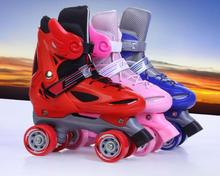 High quality!Roller Skates Double Line Skates Men Women 4 Wheels Two line Roller Skating Shoes