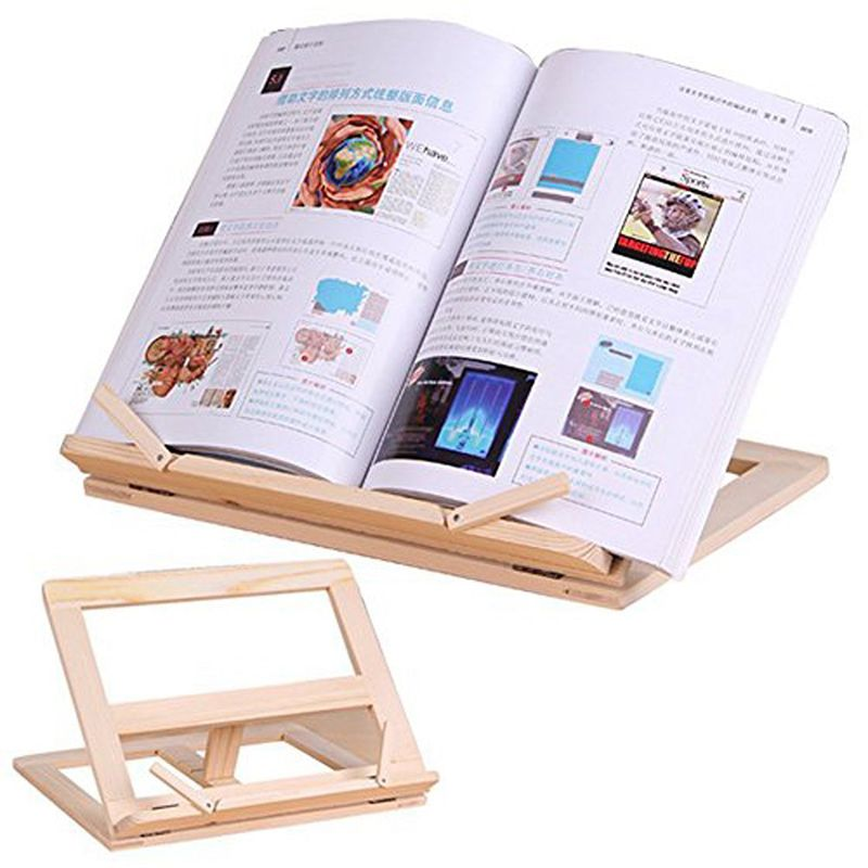 Wooden Frame Reading Bookshelf Bracket - Book Reading Bracket Tablet PC Support Music Stand