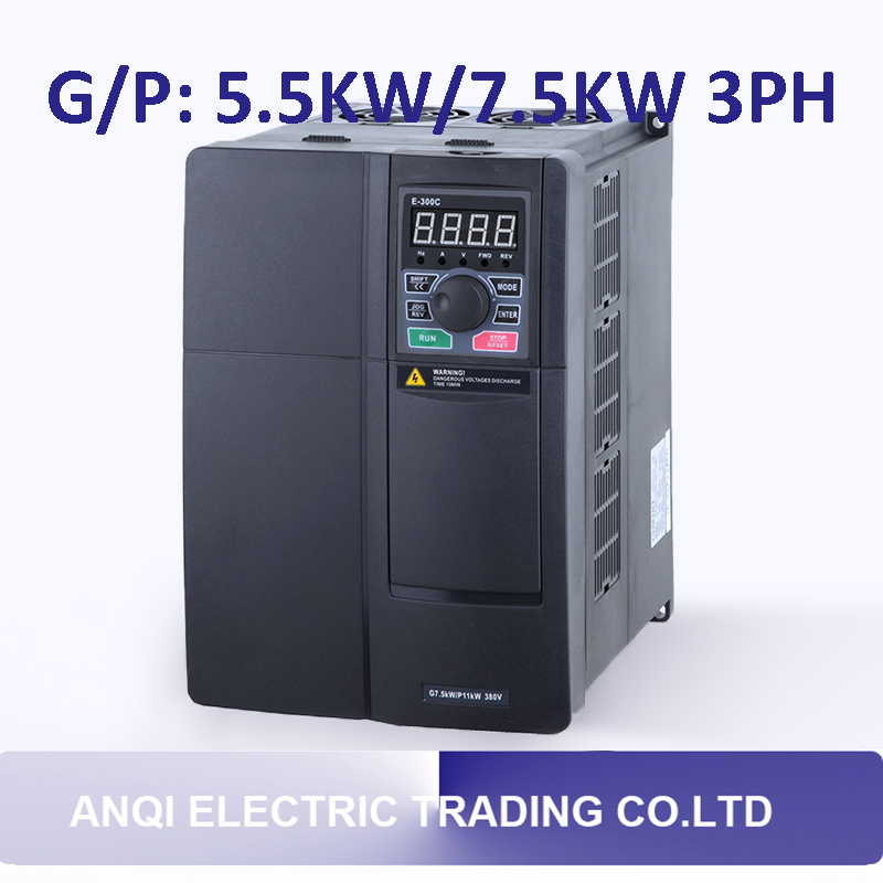 все цены на  G/P 5.5kw/7.5KW high performance frequency converter 3PH variable frequency drive VFD vector control transducer for motor pump  онлайн